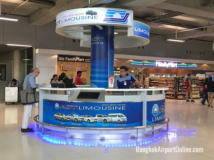 AOT Limousine Counter on the Arrivals level