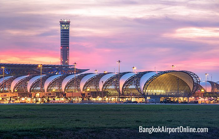 Bangkok Airport sunset view