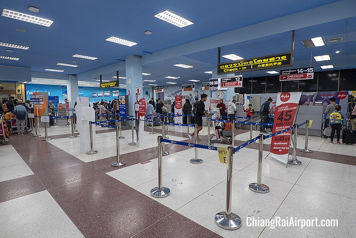 AirAsia check-in counters at Chiang Rai Airport