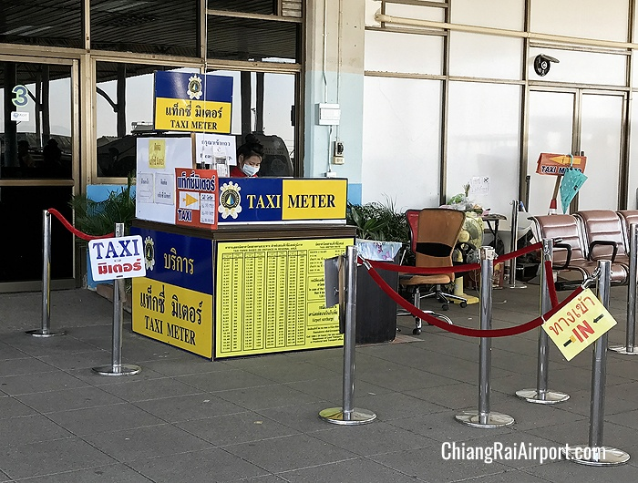 Taxi Meter Counter at Chiang Rai Airport