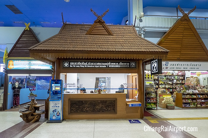 Mae Fah Luang Chiang Rai International Airport information counter