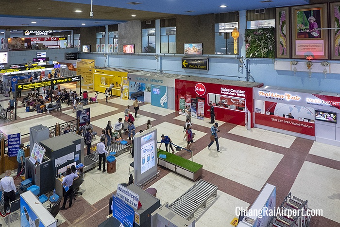 Nok Air, Bangkok Airways, AirAsia and Thai Lion Air sales counters