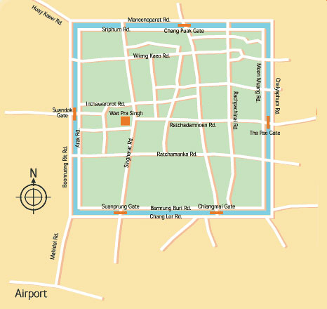 Chiang Mai Airport Map