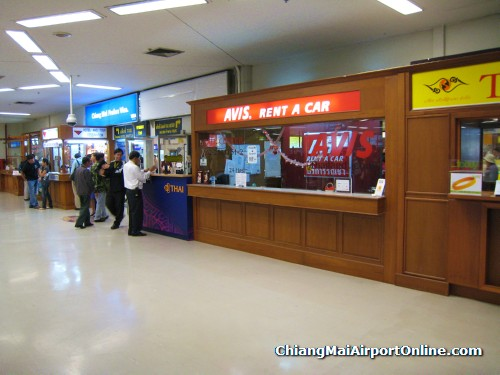 Chiang Mai Airport AVIS Car Rental Counter