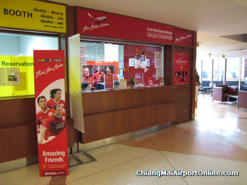 Chiang Mai Airport AirAsia Sales Counter