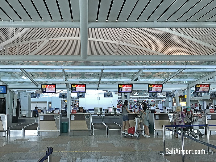 AirAsia Check-in Counters at Bali Airport