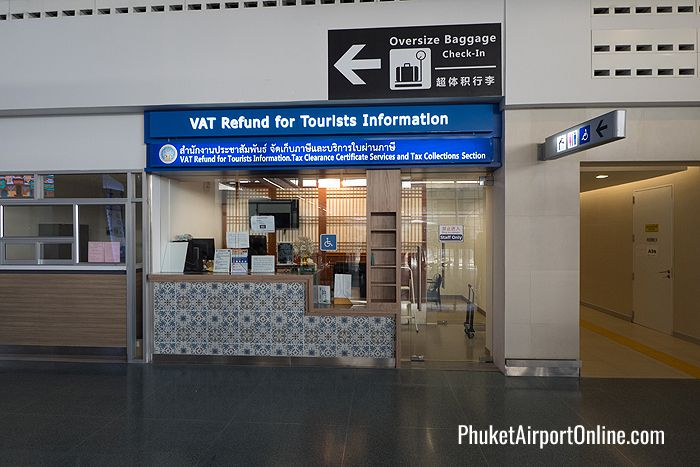 Tax Refund for Tourists at Phuket International Airport