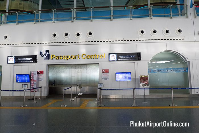 Passport Control Entrance at Phuket Airport
