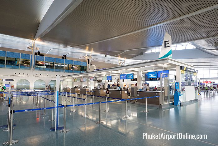 Check-in counters at Phuket Airport