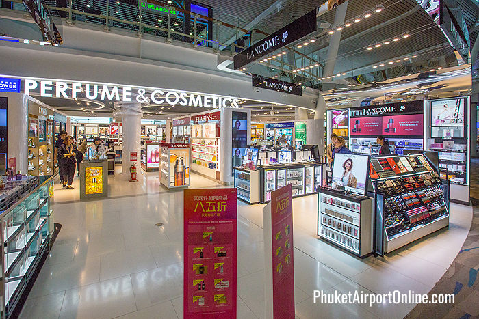 Perfume and Cosmetics at Phuket Airport Duty Free