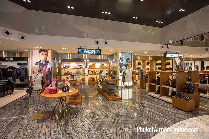 MCM leather goods and Bally boutiques at Phuket Airport