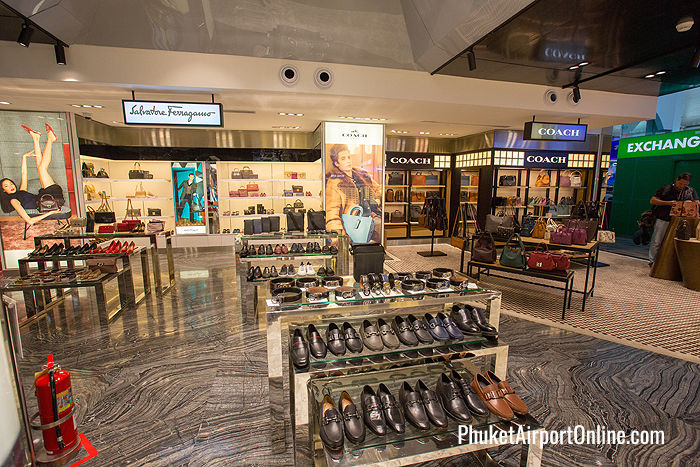 Salvatore Ferragamo and Coach leather goods at Phuket Duty Free