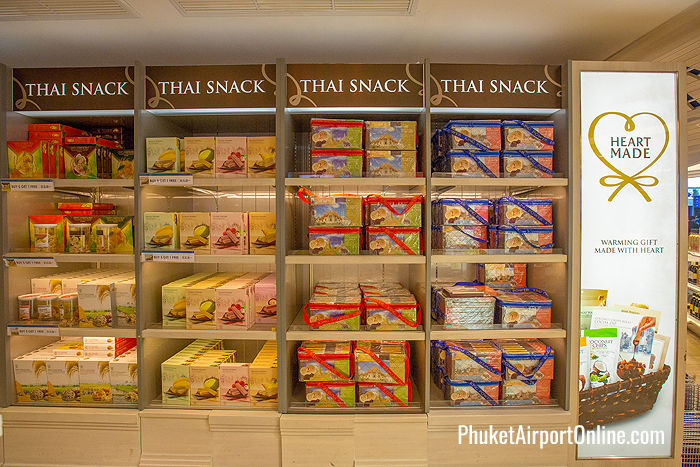 Thai snacks at Phuket Airport