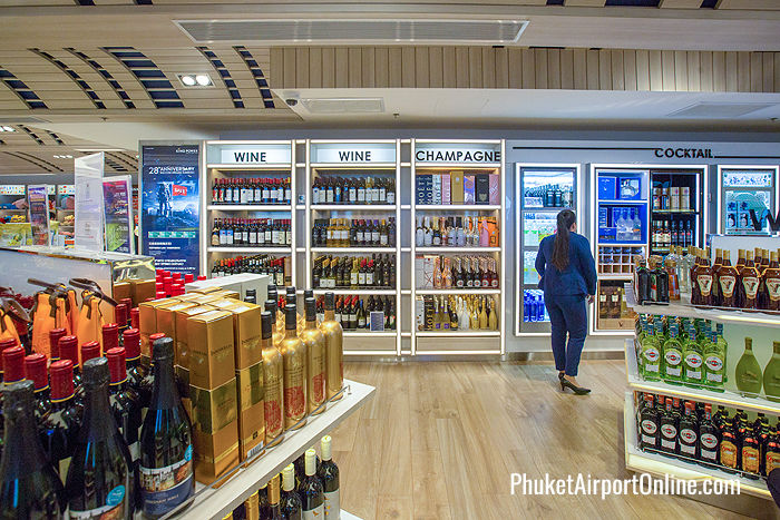 Wine & spirits at Phuket Airport