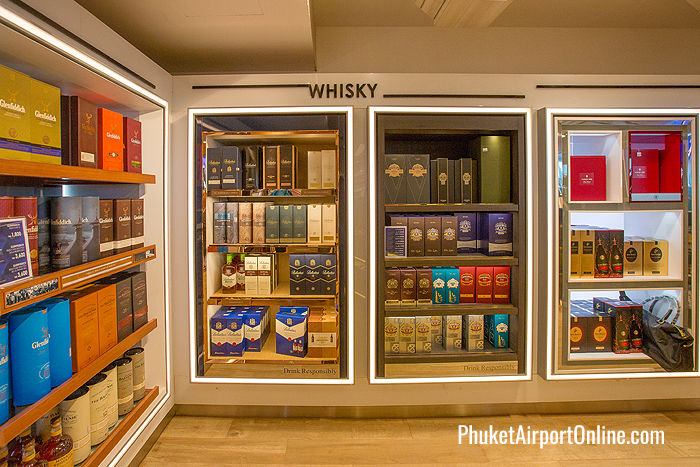 Whisky selection at Phuket Duty Free