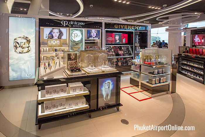 Givenchy and Clé de Peau counters at Phuket Airport