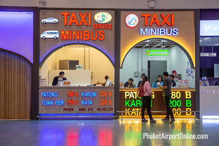 Limousine and minibus counter at the International Terminal