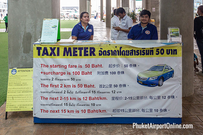 Taxi Counter at the International Terminal