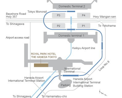 Royal Park Hotel The Haneda Access Map