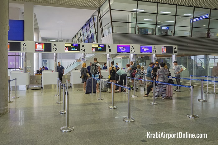 Krabi Airport Check-in Counters