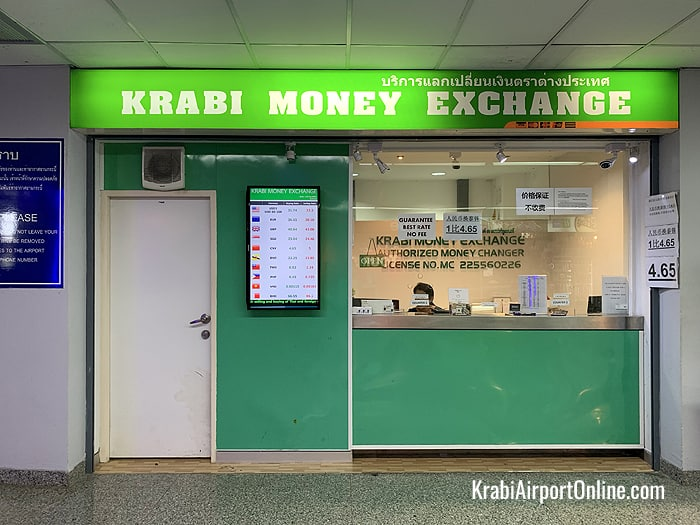 Currency Exchange at Krabi Airport