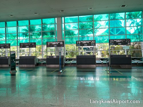 Check-in Counters at Langkawi Airport