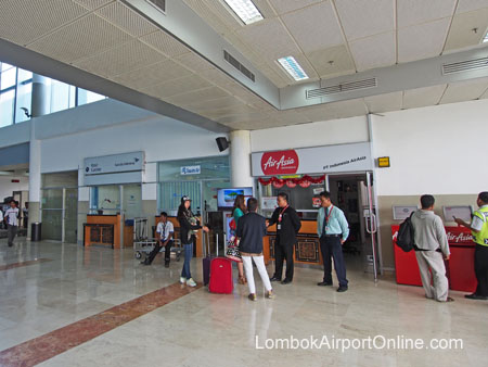 Lombok Airport AirAsia sales counter