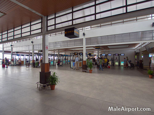 Male Airport Arrivals Hotel Counters
