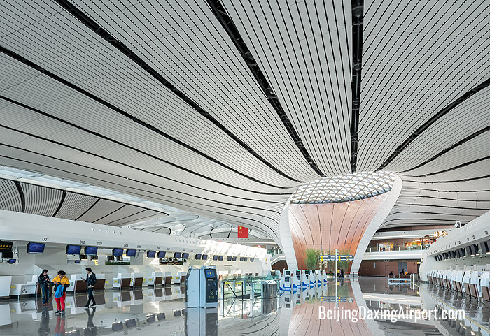 Beijing Daxing PKX Airport check-in counters