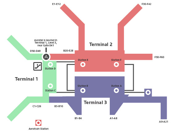 Aerotel Singapore Changi Airport Map