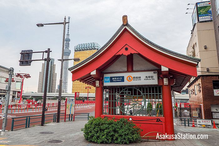 Entrance to the Asakusa Station on the Tokyo Metro Ginza Line