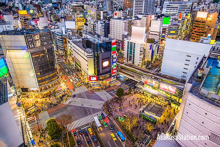 Shibuya Crossing is one of the most popular tourist destinations in Tokyo