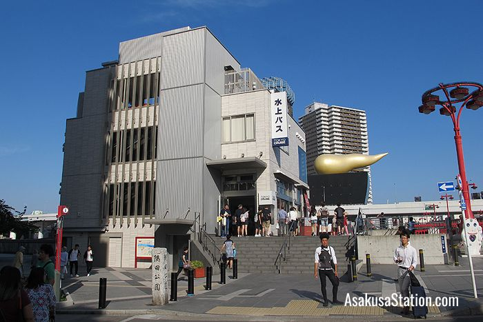 The approach to the Tokyo Cruise building in Asakusa