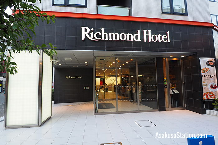 The Richmond Hotel entrance