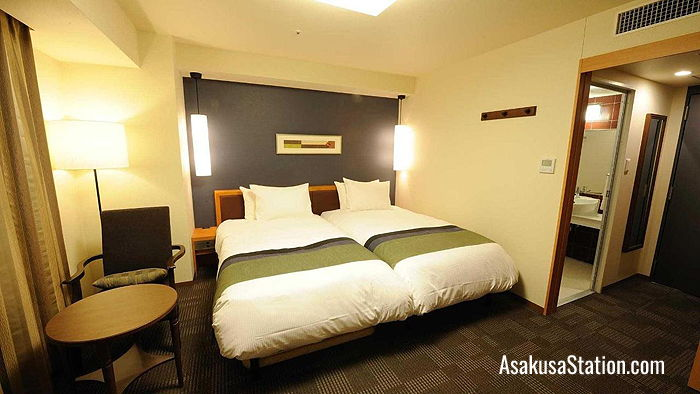 Twin Guest Room at Richmond Hotel Asakusa