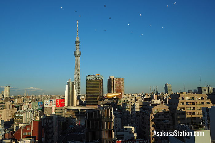 Tokyo Sky Tree view from the hotel lobby