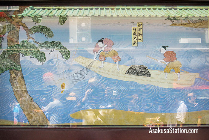 An illustration at Sensoji shows how the two brothers first found the statue