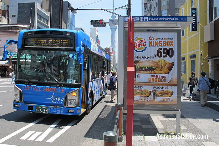 The Skytree Shuttle on Kaminarimon Dori Street