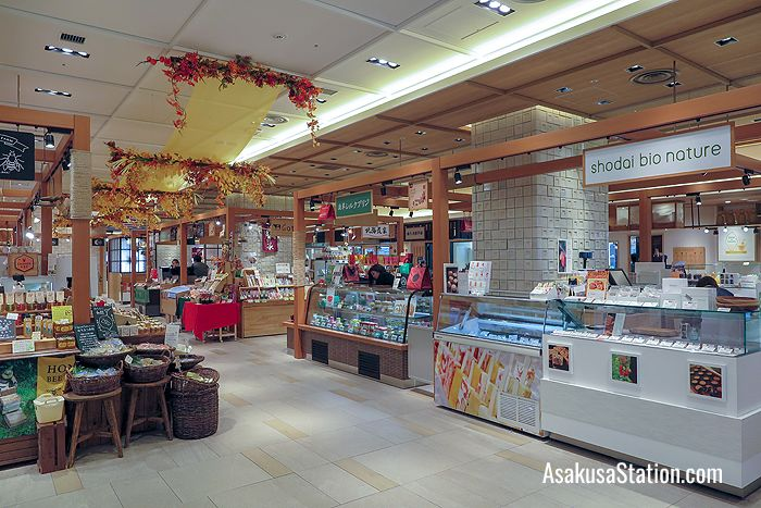 First floor food stalls at Marugoto Nippon