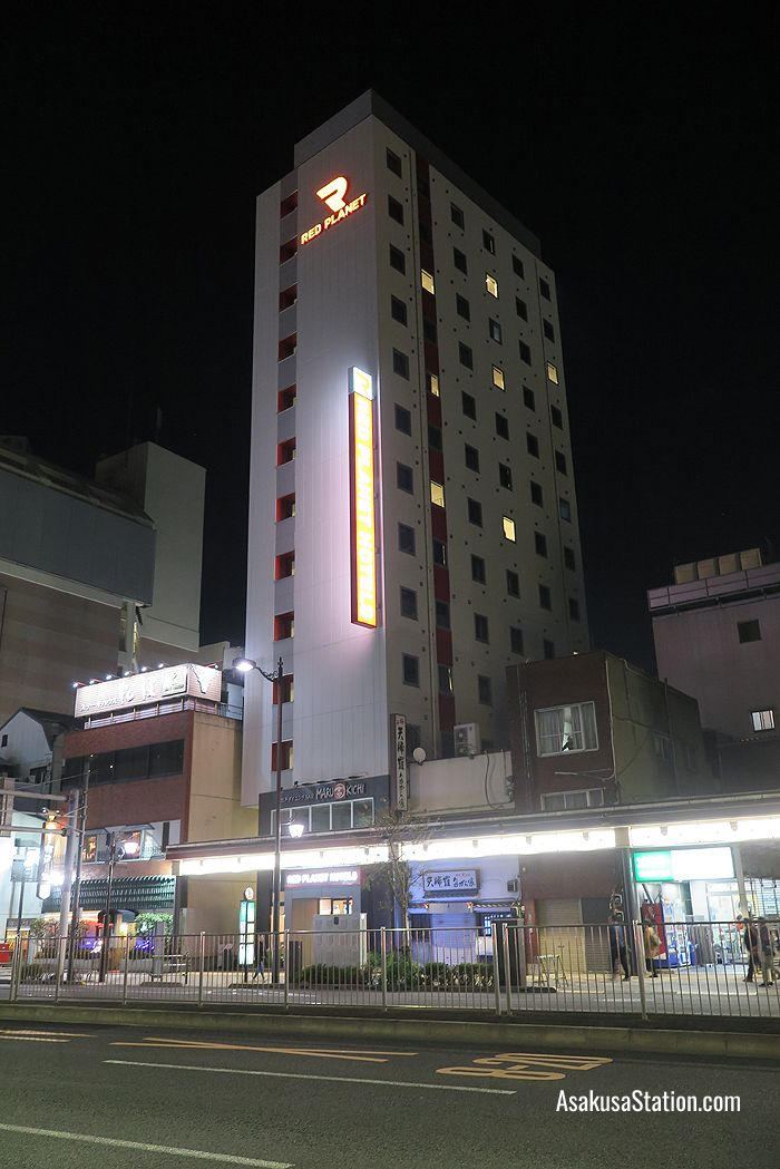 A night view of Red Planet Tokyo Asakusa