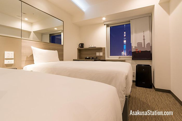Twin room with a Tokyo Skytree View