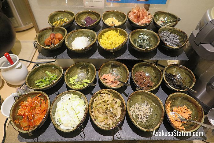 Guests can mix up their own ochazuke dish with rice, green tea broth and their own choice of pickles and other toppings