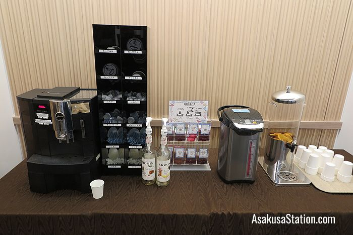 Free tea and coffee making facilities in the lobby