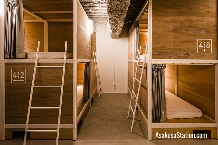 Dormitory with bunk beds