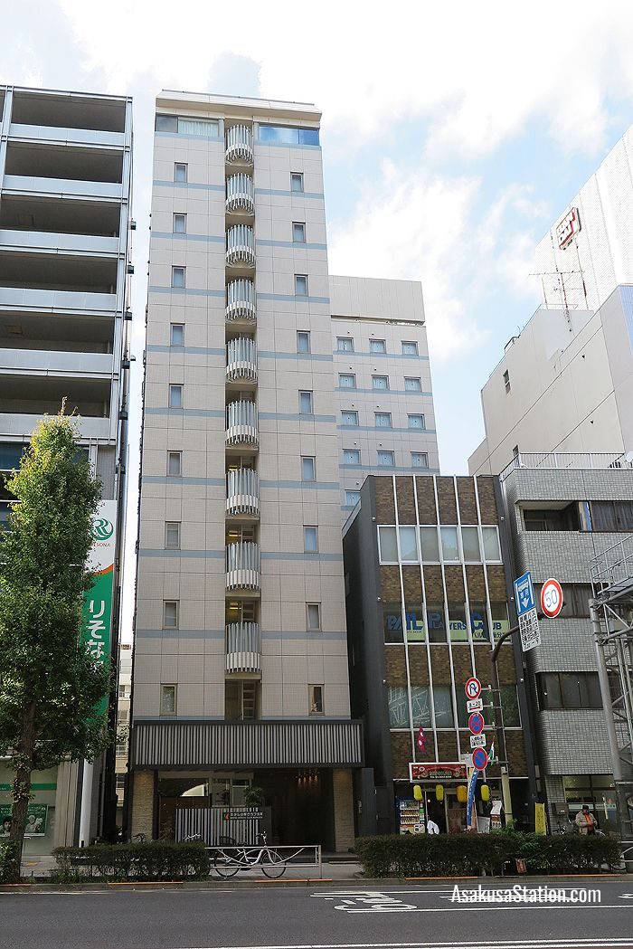 A street view of Hotel Hokke Club Asakusa