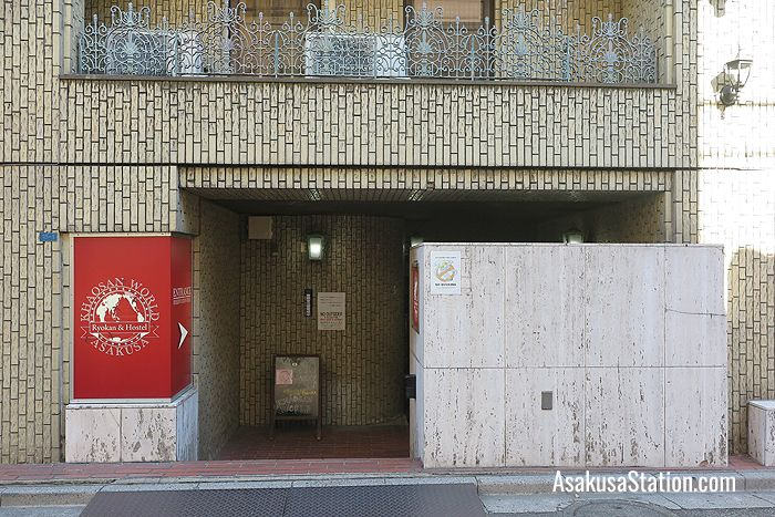 The entrance to Khaosan World Asakusa Ryokan & Hostel