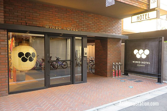 Wired Hotel entrance