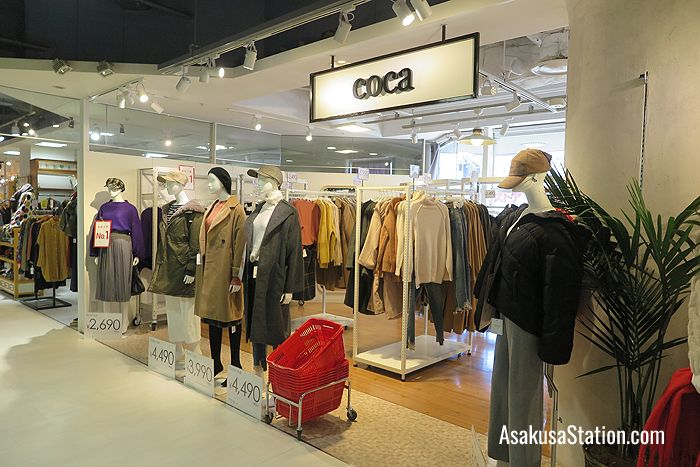 Coca sells fast fashion for ladies in their 20s, and 30s