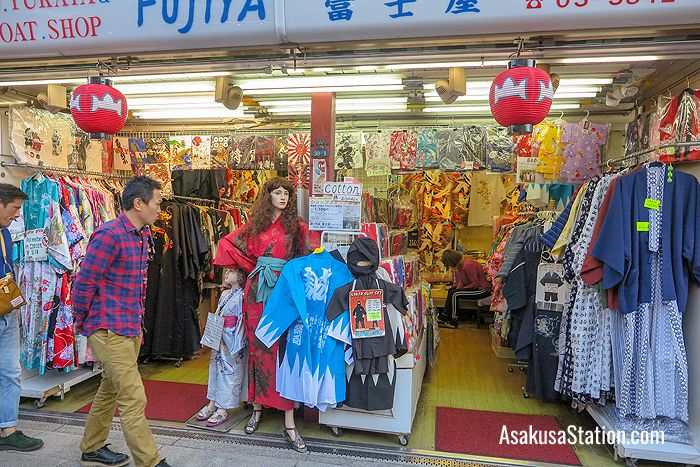 The Fujiya shop sells casual cotton kimonos