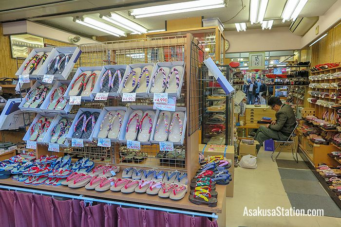 Here you can buy traditional sandals and clogs